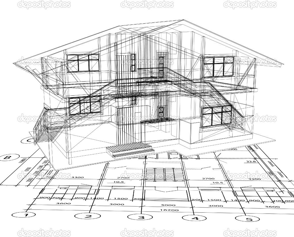 Architecture blueprints design interior for Blueprint designs for houses