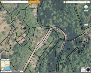 Localisation des parcelles de Ciantrissier